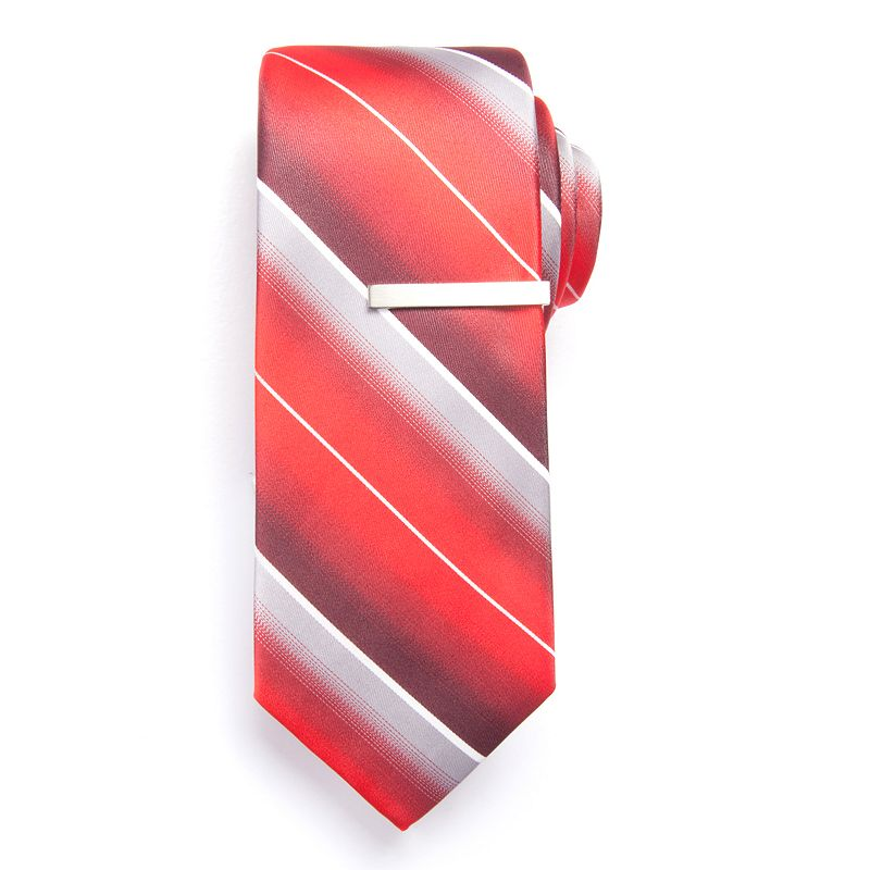 Men's Apt. 9® Mesa Striped Skinny Tie with Tie Bar