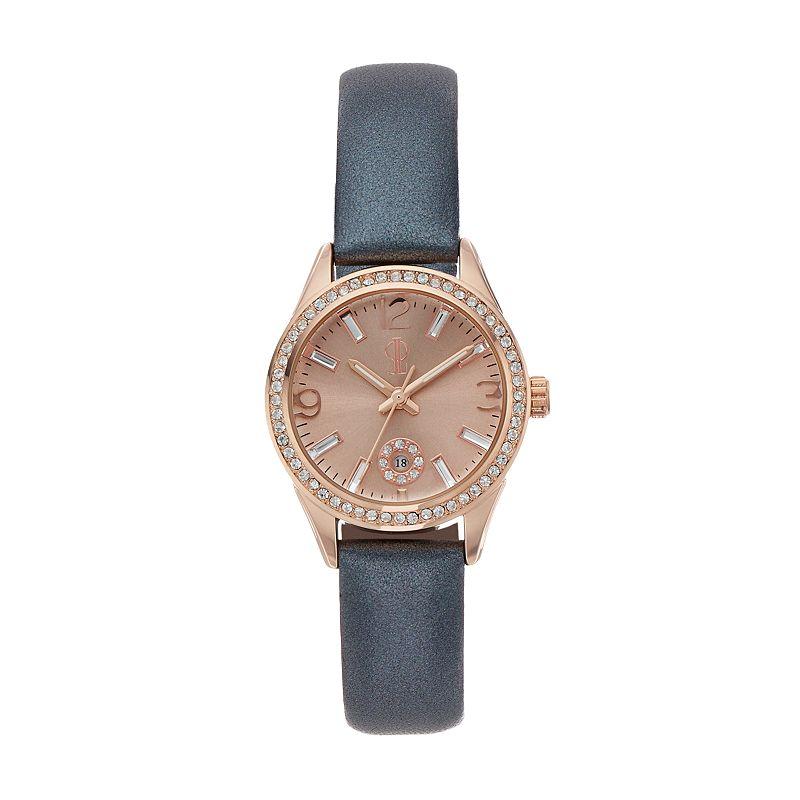 Jennifer Lopez Women's Marilyn Crystal Leather Watch