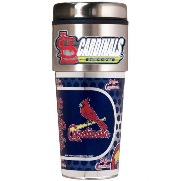 St. Louis Cardinals 16-Ounce Metallic Travel Tumbler