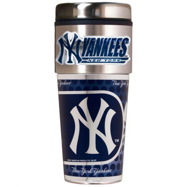 New York Yankees 16-Ounce Metallic Travel Tumbler