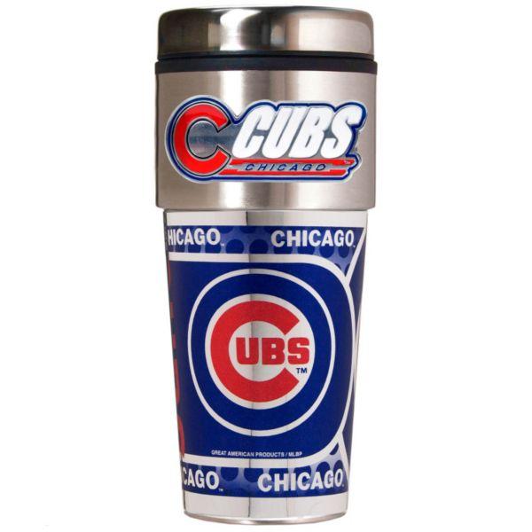 Chicago Cubs 16-Ounce Metallic Travel Tumbler