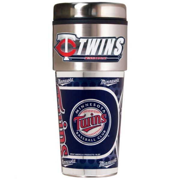 Minnesota Twins 16-Ounce Metallic Travel Tumbler