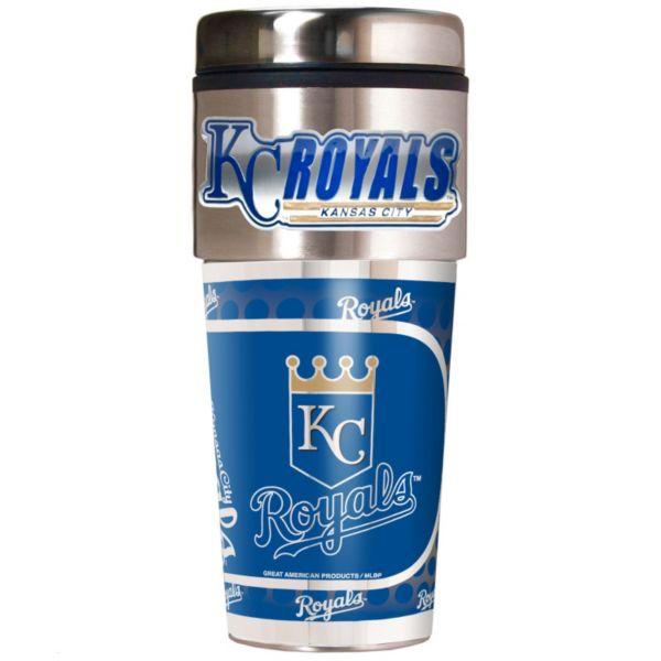 Kansas City Royals 16-Ounce Metallic Travel Tumbler