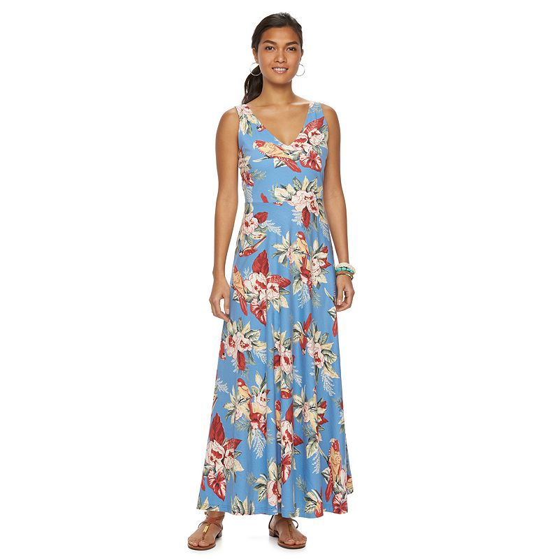 Women's Chaps Tropical V-Neck Maxi Dress