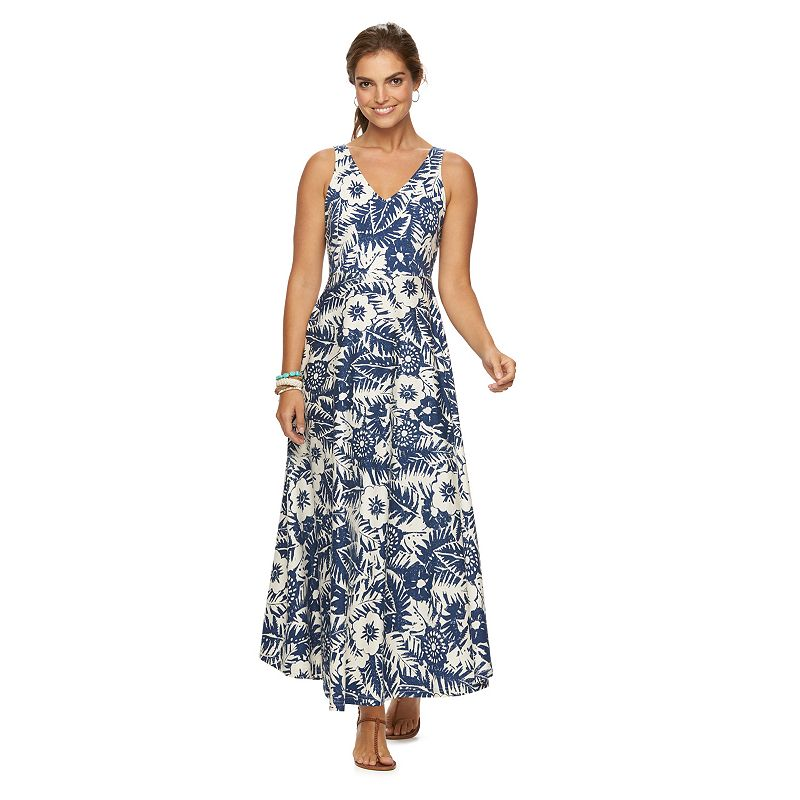 Women's Chaps Tropical V-Neck Maxi Dress