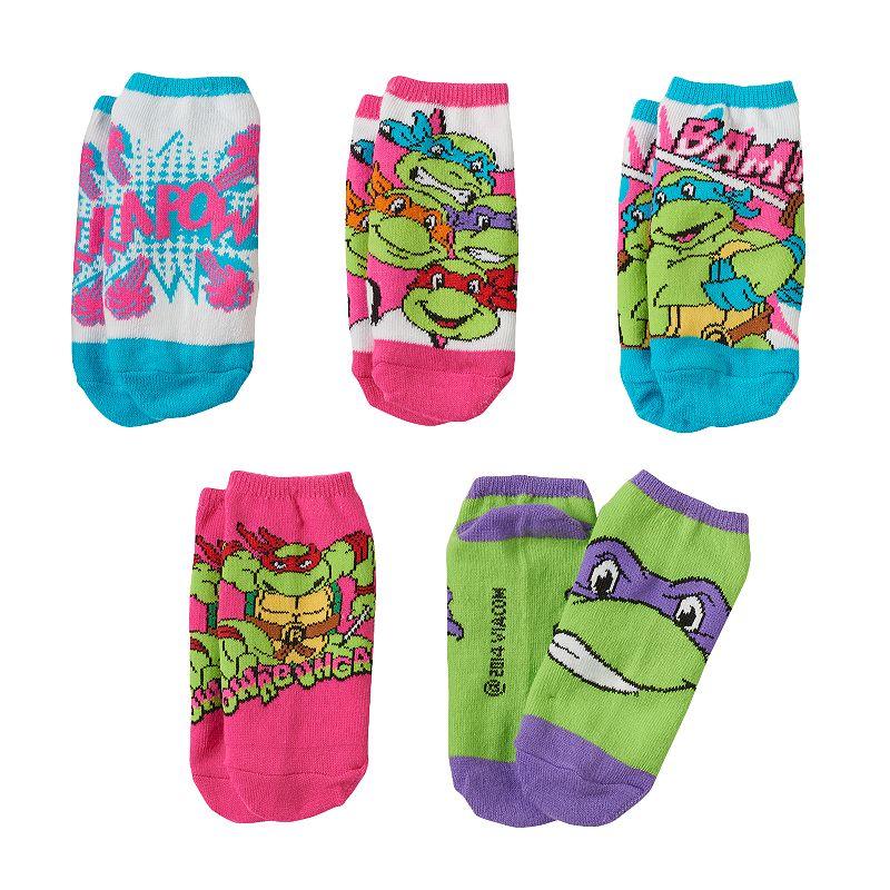 Girls Teenage Mutant Ninja Turtles 5-pk. Comic Book No-Show Socks