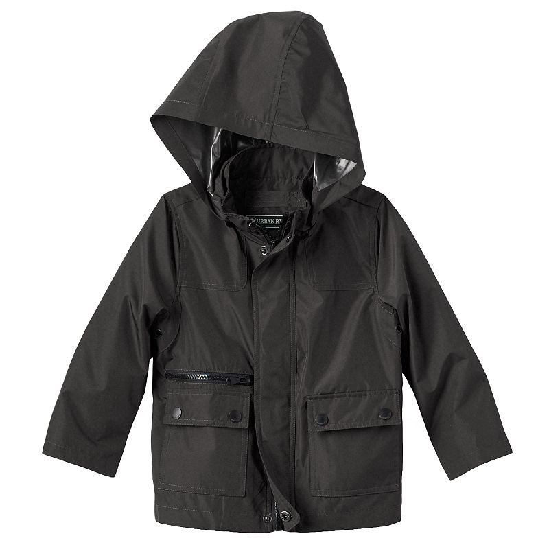 Boys 4-7 Urban Republic Hooded Tensile Rain Jacket