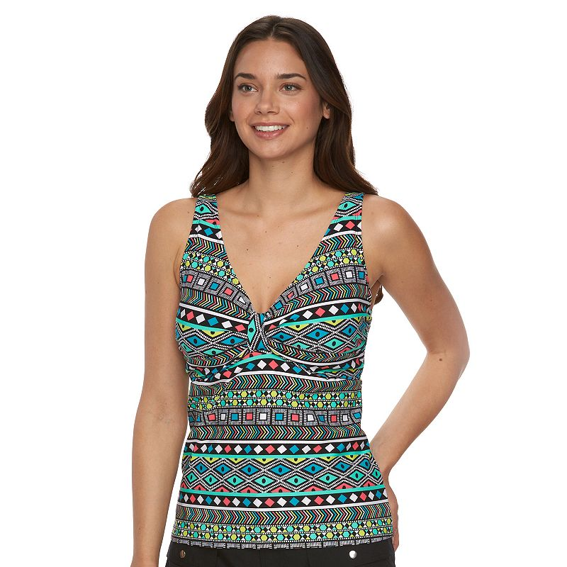 Women's Pure Paradise V-Neck Bra-Sized Tankini Top