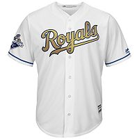 Men's Majestic Kansas City Royals 2015 World Series Champions Replica MLB Jersey