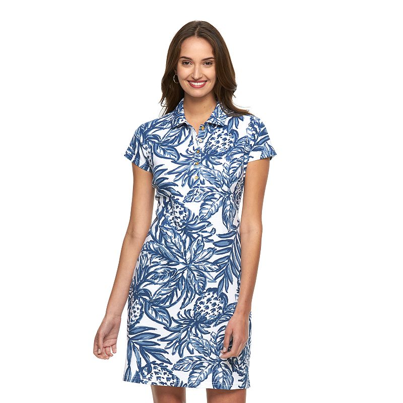 Women's Caribbean Joe Pique Polo Shirtdress