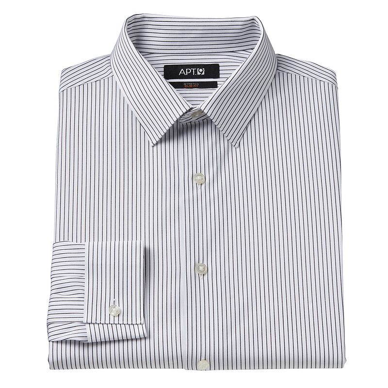 Men's Apt. 9 Slim-Fit Patterned Dress Shirt