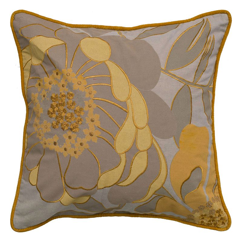 Kohls Yellow Throw Pillow : Laural Home Perfect Petals Throw Pillow DealTrend