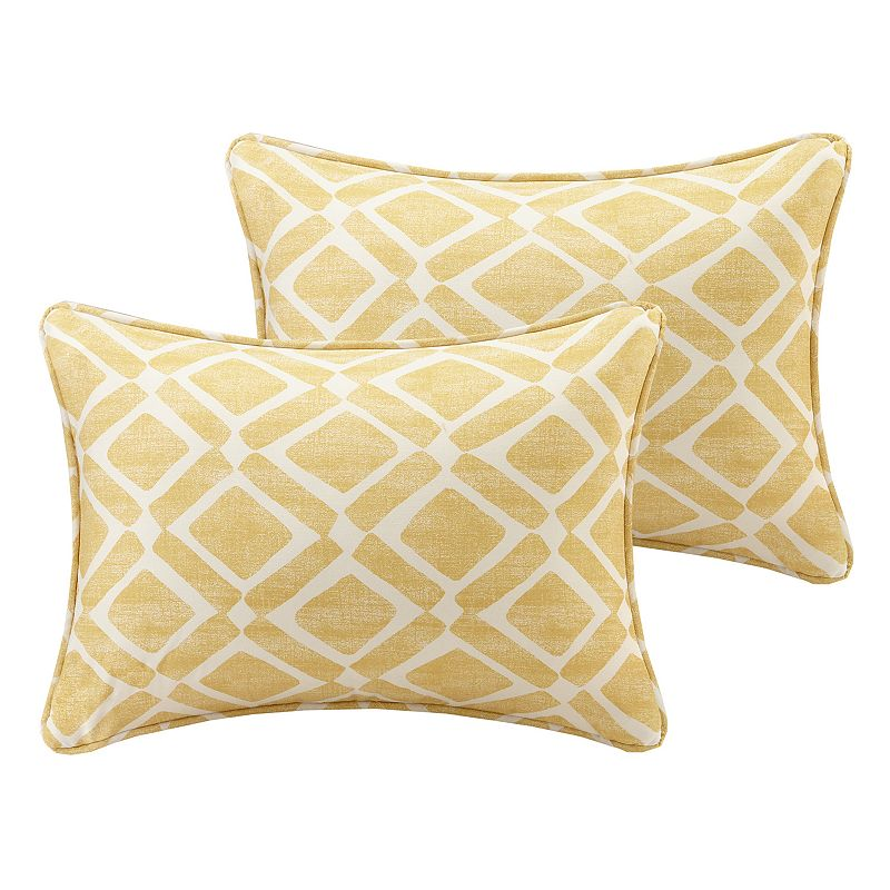 Kohls Yellow Throw Pillows : Yellow Cotton Geometric Pillow Kohl s