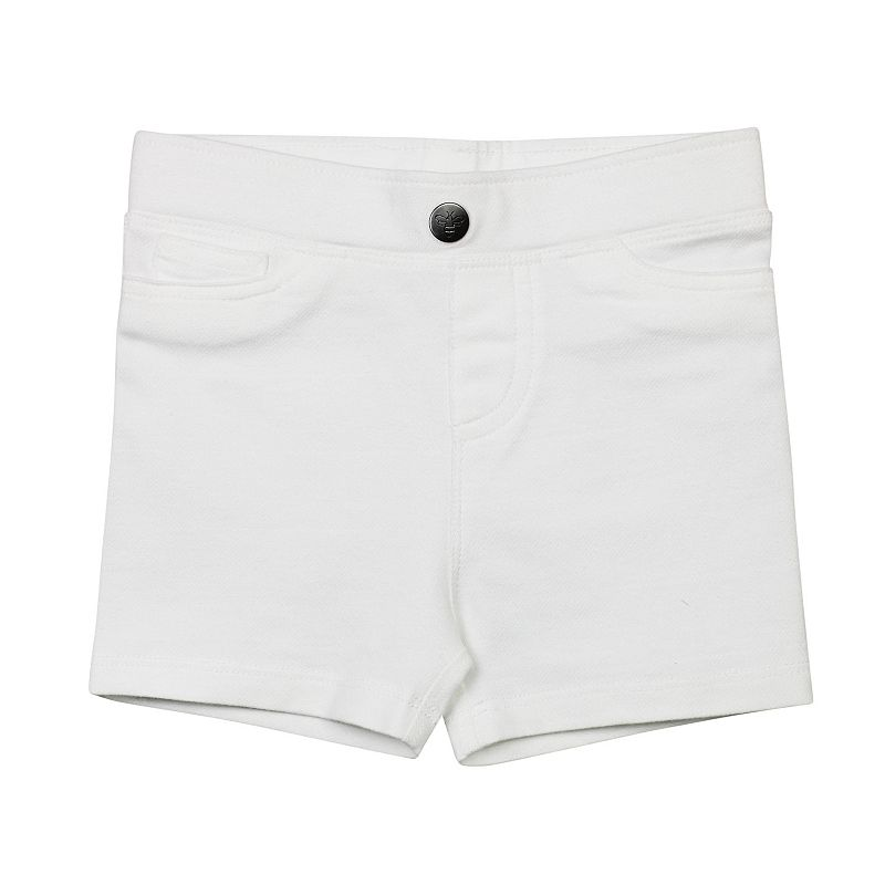 Baby Girl Burt's Bees Baby Denim-Look Knit Shorts