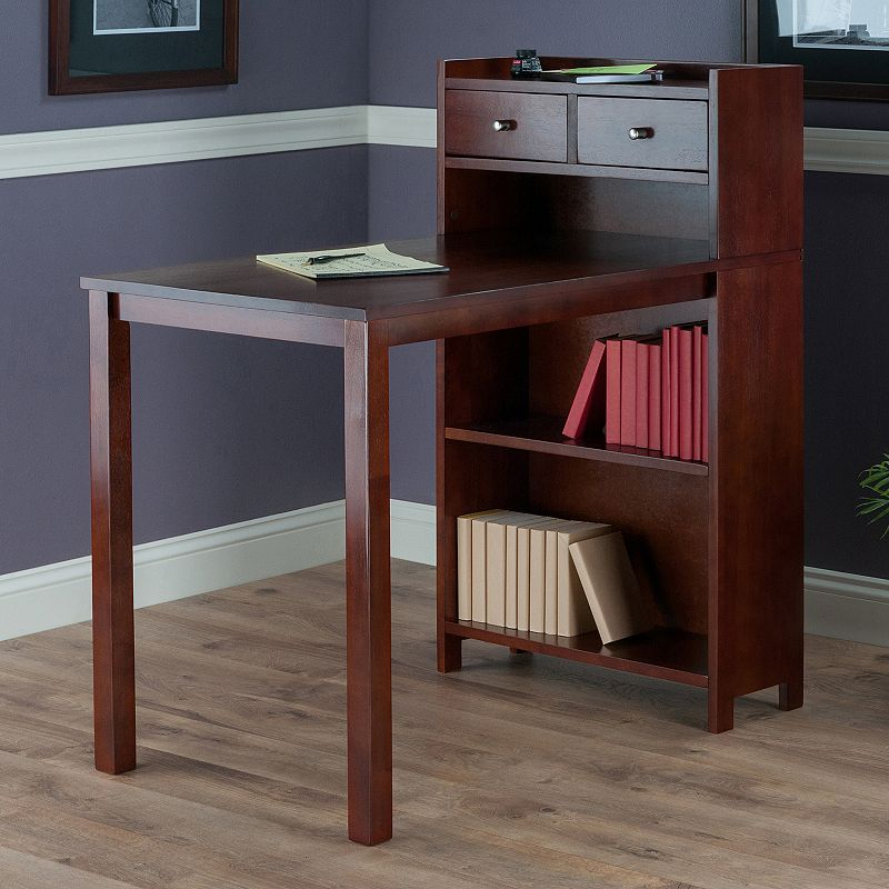 Winsome Tyler High Table with Storage Shelves