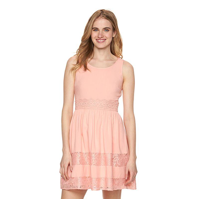 Women's LC Lauren Conrad Lace Trim A-Line Dress