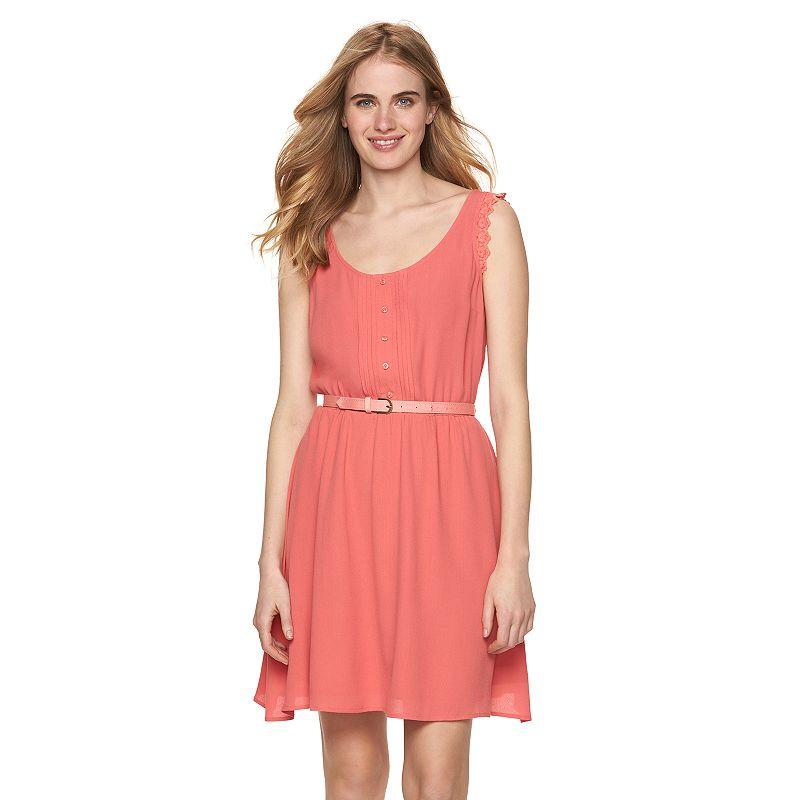 Women's LC Lauren Conrad Pintuck Fit & Flare Dress