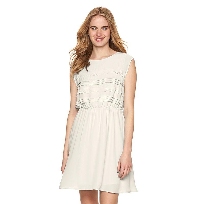 Women's LC Lauren Conrad Scalloped Fit & Flare Dress
