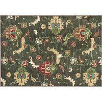 KAS Rugs Shiraz Oushak Framed Floral Rug