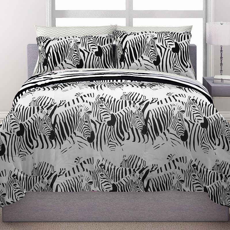 Republic Zebra Stampede Reversible Bed in a Bag Set