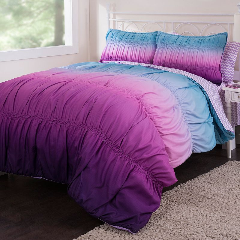 Ombre Rouched Reversible Bed in a Bag Set