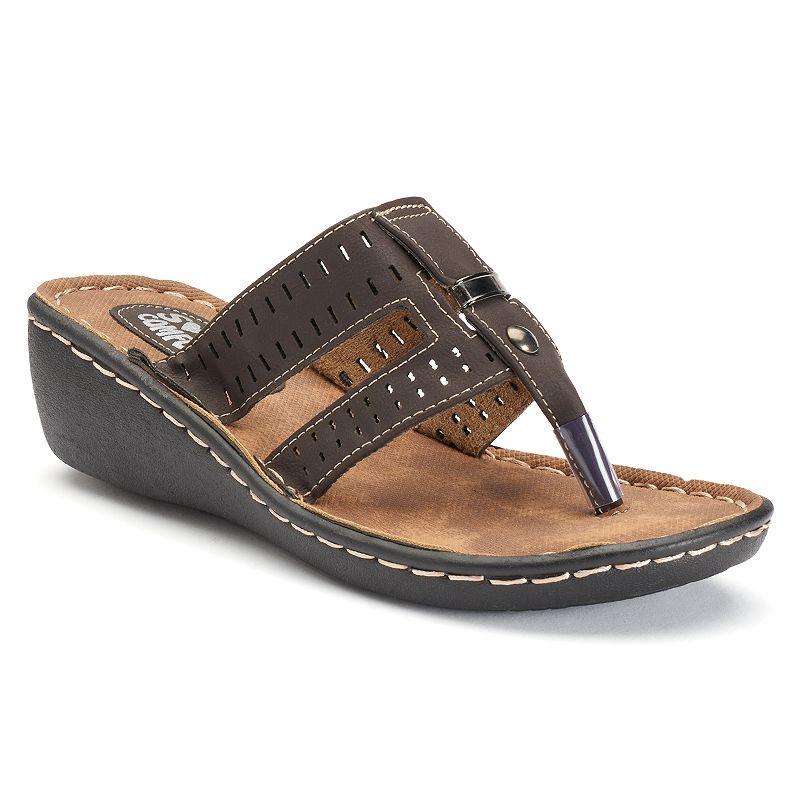 Soft Comfort Cross Lane Women's Wedge Sandals