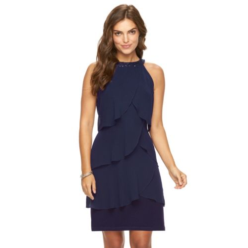 Women's Chaps Tiered Shift Dress