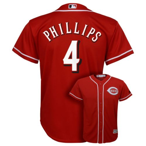 Boys 8-20 Majestic Cincinnati Reds Brandon Phillips Replica Jersey