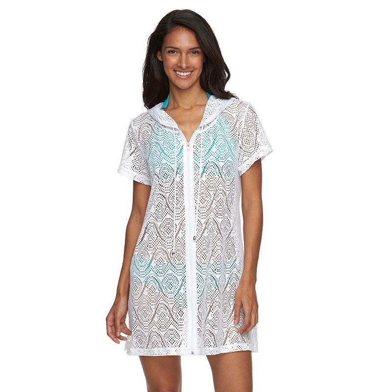 Women's Beach Scene Karen Crochet Hooded Cover-Up
