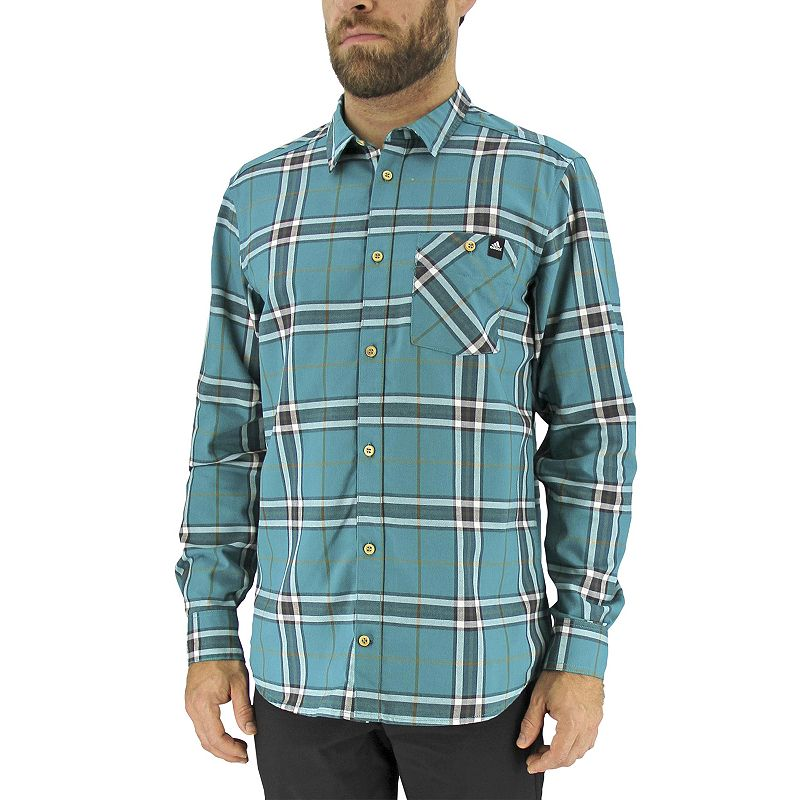 Men's adidas Classic-Fit Plaid Button-Down Shirt