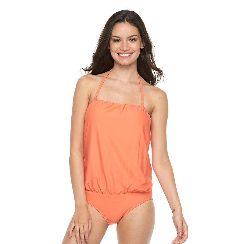 Women's Beach Scene Lanai Blouson One-Piece Swimsuit