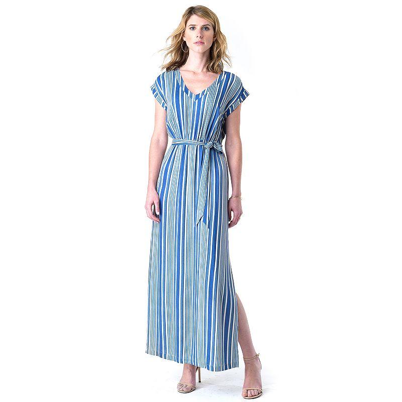 Women's Indication by ECI Striped Maxi Dress