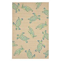 Trans Ocean Imports Liora Manne Playa Sea Turtles Indoor Outdoor Rug