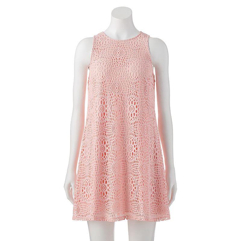 Juniors' Speechless Lace Swing Shift Dress