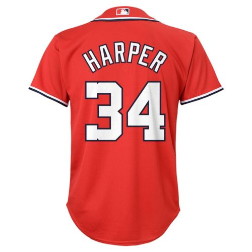 Boys 8-20 Majestic Washington Nationals Bryce Harper Replica Jersey