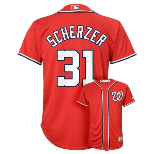 Boys 8-20 Majestic Washington Nationals Max Scherzer Replica Jersey