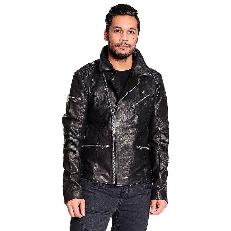 Men's Excelled Leather Biker Jacket