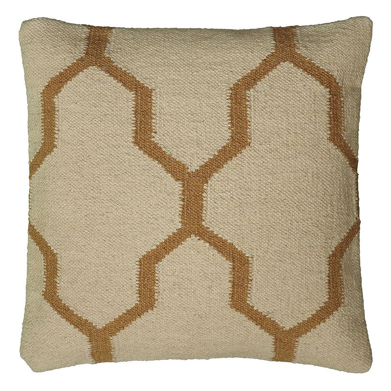 Rizzy Home Quatrefoil Wool Throw Pillow