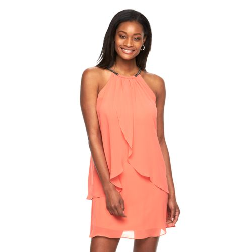 Women's Expo Ruffle Halter Dress