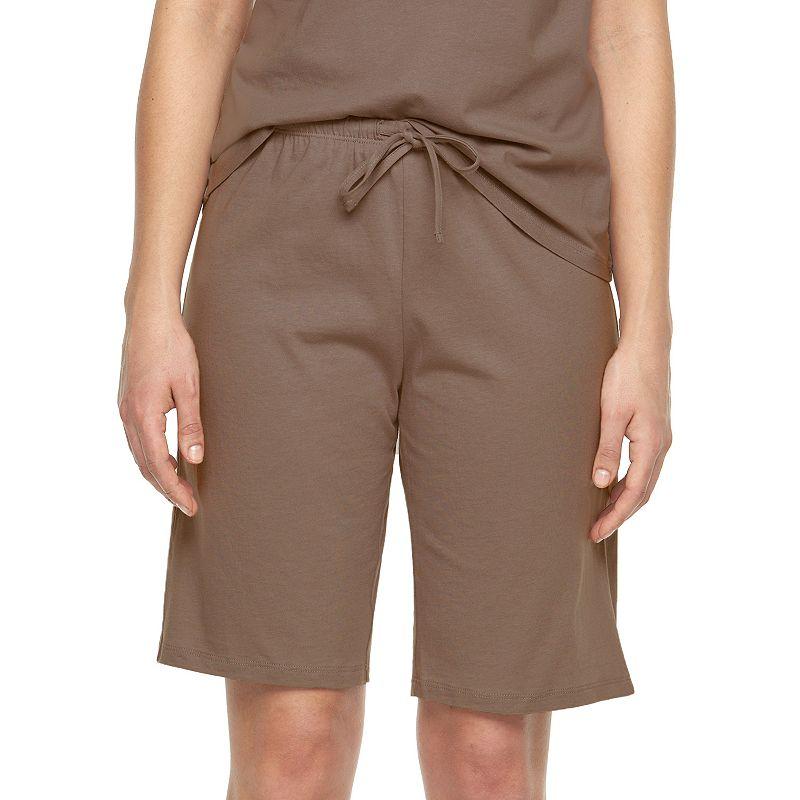 Plus Size Jockey Pajamas: Solid Bermuda Pajama Shorts