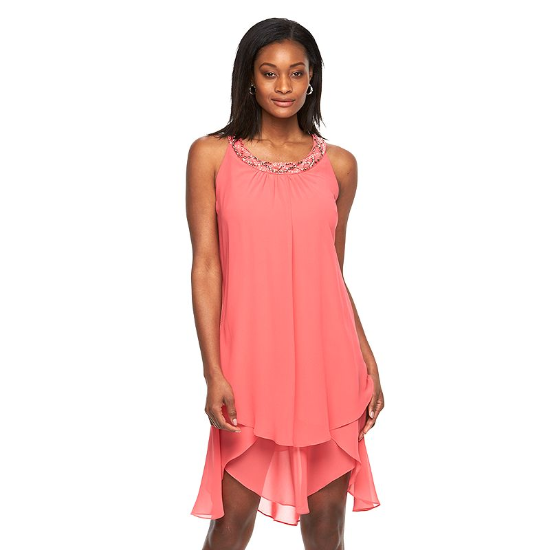 Women's Expo Embellished Tiered Shift Dress