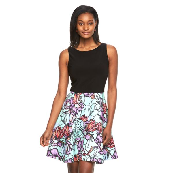 Women's Expo Floral Fit & Flare Dress