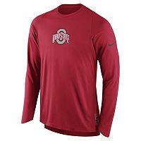Men's Nike Ohio State Buckeyes Elite Shooter Long-Sleeve Tee