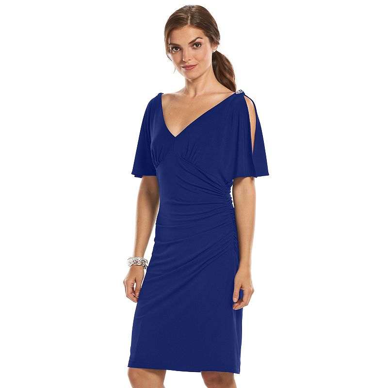 Women's Chaps Embellished Rushed Empire Dress