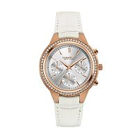 Caravelle New York by Bulova Women's Crystal Leather Chronograph Watch - 44L214
