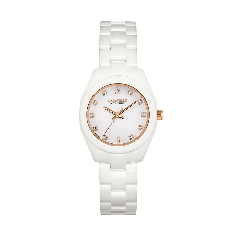 Caravelle New York by Bulova Women's Crystal Ceramic Watch - 45L159