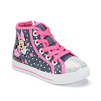 Disney's Minnie Mouse Toddler Girls' High-Top Sneakers