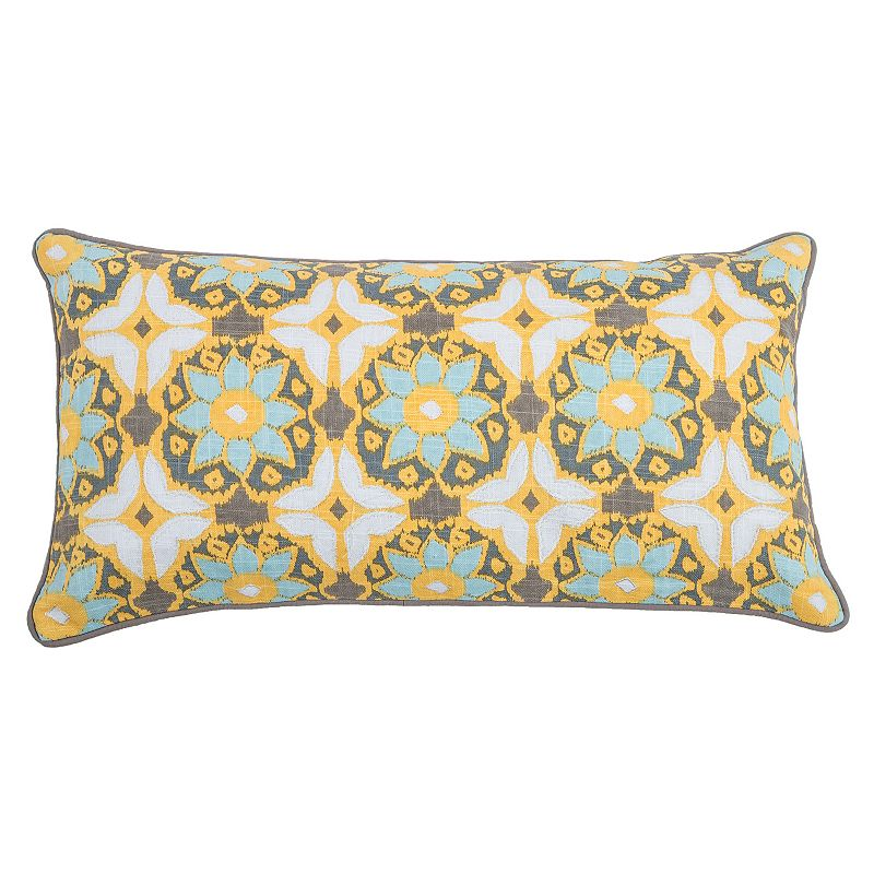 Yellow Floral Throw Pillow Kohl s