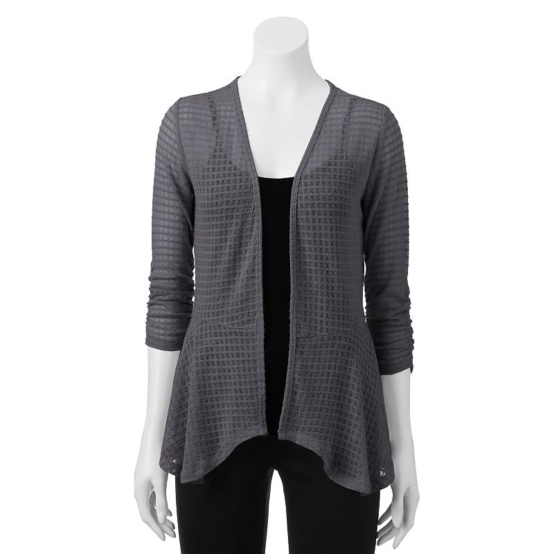 Juniors' Candie's Open-Front Draped Cardigan
