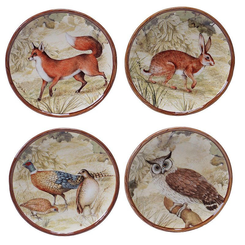 Certified International Rustic Nature 4-pc. Canape Plate Set
